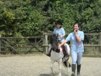 Horse riding lesson picture
